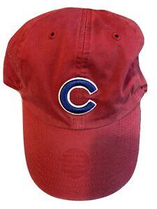 "NWOT MLB Chicago Cubs M Franchise ""Perfect Fit"" Red Hat Cap Twins Enterprise"