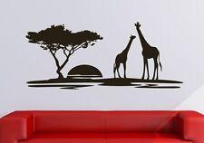 Giraffen Afrika Wandtattoo Wallpaper Wand Schmuck 95 x 44 cm Wandbild