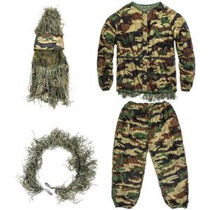 3D Blatt Tarnanzug Camo Jagd Wald Ghillie Suit in Einheitsgröße