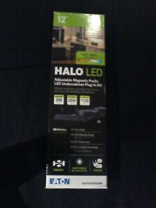 12'' Halo LED Adjustable Magnetic Pucks Undercabinet Plug-In Kit