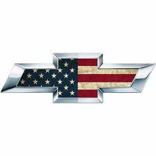2 American Flag US Universal Chevy Silverado Bowtie Vinyl Sheets Emblem Overlay