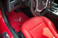 2014 + CORVETTE C7 STINGRAY Z06 GS CONVERTIBLE RED LLOYD FLOOR & CARGO MAT SET
