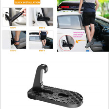 Car Doorstep Heavy Duty Foot Pedal Aluminum Alloy Folding Ladder Hooked U Shaped
