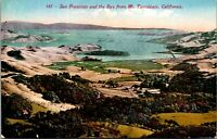 Vtg 1910's San Francisco Bay from Mt Mount Tamalpais California CA Postcard