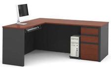 """BESTAR 99860-39 30-13/32""""H x 71-1/64""""W Prestige+ Series L-Shape Desk, Bordeaux"""
