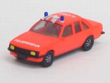"Opel Rekord Berlina 2,0 E ""Feuerwehr 4/050"" leuchtrot, no OVP, Herpa, 1:87,Umbau"