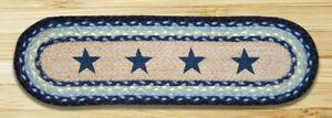Blue Star Print Stair Tread or Table Runner