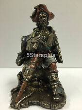 Pirate Captain With Wooden Leg Sitting On Barrel Statue Figures scuplture