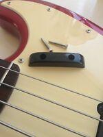 Black Thumb Rest/Tug Bar/Finger Pull for Fender Jazz / Precision Bass Guitar