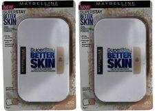 2 X Maybelline Superstay Better Skin Powder Compact Foundation 9g 010 Ivory