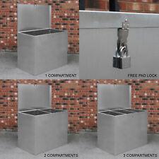 More details for large feed bins storage 64l galvanised metal waterproof outdoor animal lockable