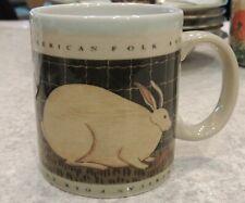 Otagiri Warren Kimble Mug Rabbit Bunny American Folk Art