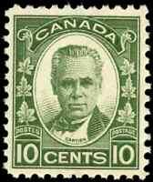 Canada #190 mint VF OG NH 1931 George-Etienne Cartier 10c dark green CV$60.00