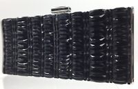 Judith Leiber Jet Black Crystal Silver Evening Bag Clutch MINAUDIÈRE CRYSTAL NEW