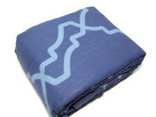 Pottery Barn Multi Color Blue Trisha Geo Cotton Linen King Cal King Duvet Cover