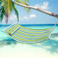 Double Size Quilted Fabric with Pillow Hammock Spreader Bar Heavy Duty Hang Bed