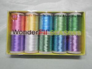 Machine Embroidery Wonderfil Thread (East Eggs) Pkt 10 Reels