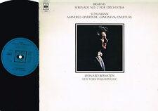 BRAHMS Serenade #2 SCHUMANN Manfred-Genoveva LP Leonard Bernstein CBS 1973 UK