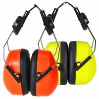 PORTWEST Endurance Hi Vis Ear Protector Clip On Ear Muffs Ear Defender PS47