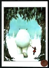 Dan May Christmas Gentle Creature White Bear Forest Snow Girl - Greeting Card