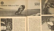 1963 Yamaha YDS-2 & TD-1 Road Tests - 6-Page Vintage Motorcycle Article
