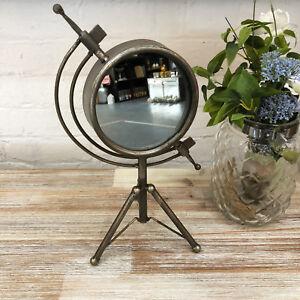 Industrial Bathroom Dressing Table Shaving Make Up Free Standing Vanity Mirror