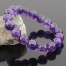 Genuine 8 MM Mystical Purple Amethyst Crystal Bead Adjustable Charming Bracelets