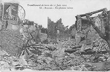 CPA 13 ROGNES TREMBLEMENT DE TERRE EN PLEINES RUINES 1909