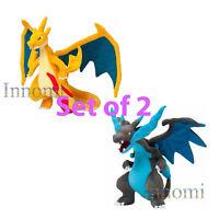 "10"" Pokemon Set of 2 Mega Evolution X Y Charizard Plush Doll Figure Toy Gift"