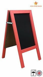 RED - A BOARD - PAVEMENT BOARD - CHALKBOARD - PAVEMENT SIGN