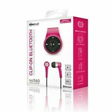NEW NOISEHUSH NS560 PINK CLIP-ON BLUETOOTH WIRELESS HEADSET-In-Ear Only