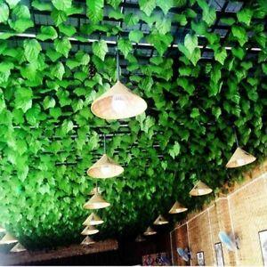 82ft Artificial Grape Ivy Vine Leaf Garland Plants Green Fake Foliage Decor #N02