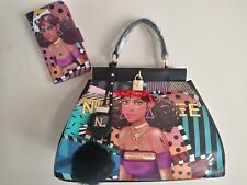 NEW NICOLE LEE USA CUTE TIARA GOES DANCING HANDBAG & CELL PHONE CASE WALLET