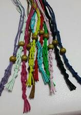 100% Hemp GREEN Macrame Gemstone Pouch Necklace