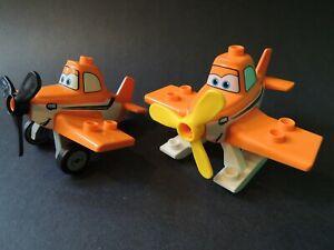 LEGO Lot of 2 Orange Technic Airplane Propeller Pieces