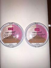 """(2)WET N Wild coloricon  Blush & glow trio"""" fair trade coffee"""" 34518 ,0.47 oz"""