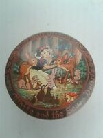 Snow White And The Seven Dwarfs Tin Candy Container Vintage Walt Disney England