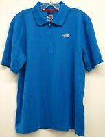 The North Face Mens Blue 1/4 Zip Quick Dry Pullover Short Sleeve Shirt Sz Medium