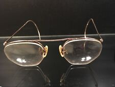 afccb26c8bd Unique Antique Wire Rimless Eyeglasses in Original Leather Case Peoria  Illinois
