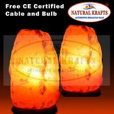 6 x HIMALAYAN PINK SALT ROCK CRYSTAL LAMP 2-3KG NATURAL HEALING IONIZING LAMPS
