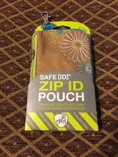 NEW Travelon RFID Blocking Daisy Zip ID Pouch Wallet Purse - Sand
