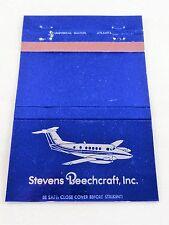 Matchbook Cover ~ STEVENS BEECHCRAFT, INC. (Airplane) Greer SC Rear Strike 40 UN