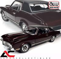 AUTOWORLD AMM1245 1:18 1970 OLDSMOBILE CUTLASS SX (CLASS OF 1970) BURGUNDY MIST