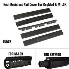 "Trinity Force 4.76"" Heat Resistant Rail Covers Pack of 5 KeyMod & M-Lok, Bkack"