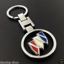 3D Metal hollow out double side Keychain keyring pendant Key Holder for buick