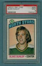 1976 77 OPC PSA 9 MINT BLAKE DUNLOP MINNESOTA NORTH STARS LOW POP 7   1 HIGHER