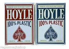 Hoyle 100% Plastic Blue & Red Deck Set Playing Cards Poker Size USPCC Smooth New
