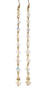 "CLEAR AB Crystal Earrings Super Long Shoulder Dusters 4-3/4"" Swarovski Elements"