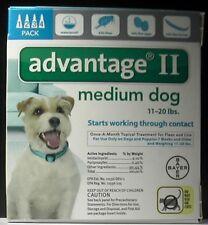 Bayer Advantage II Medium Dog 11-20 lbs 4 Pk EPA APPROVE PRODUCT!!! 100% GENUINE