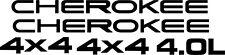 Jeep Cherokee 4x4 4.0l Stickers decals Graphics Vinyls restoration replacement